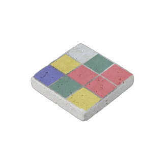 Puzzle Cube Gamer Primary Colors Colorful Red Blue Stone Magnet