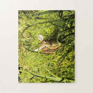 Puzzle, Fawn in the Grass Jigsaw Puzzle