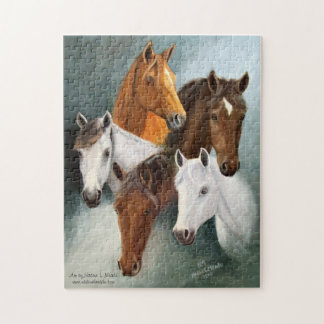 Puzzle, Five Horse Heads Jigsaw Puzzle