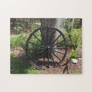 Puzzle Garden Wagon Wheel