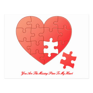 Heart Valentine Puzzle Piece Missing Love Cards Zazzle Au
