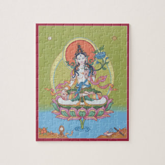 PUZZLE IN TIN  - White Tara - Buddha of Longevity