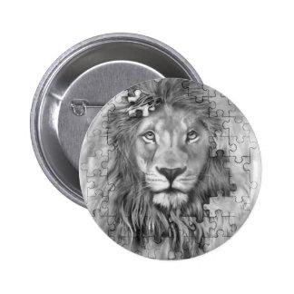 puzzle lion button