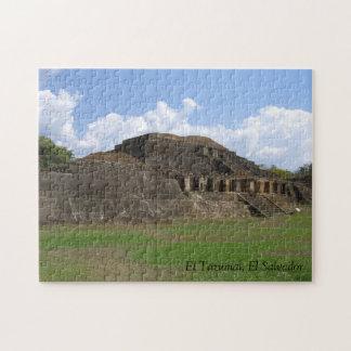 Puzzle of El Tazumal Ruins in El Salvador