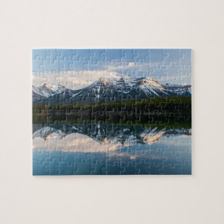 Puzzle of Herbert Lake, Icefield parkway, Canada