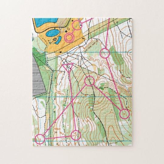 Puzzle - Orienteering map