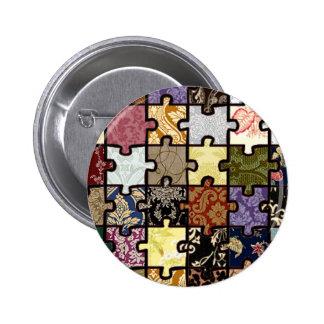 Puzzle Patchwork 6 Cm Round Badge