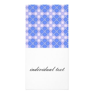 puzzle pattern blue picture card