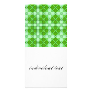 puzzle pattern green picture card