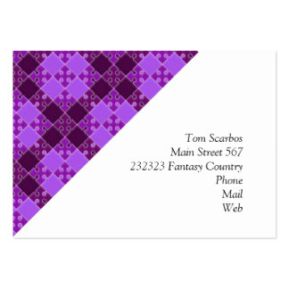 puzzle pattern purple business card templates