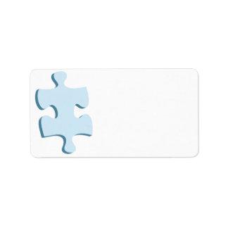 Puzzle Piece Address Labels