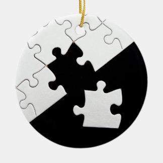 Puzzle Piece Ceramic Ornament
