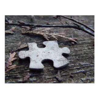 Puzzle Piece Postcard