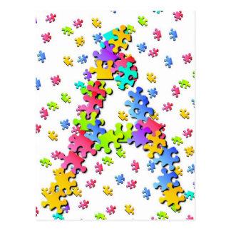 Puzzle Pieces - A Postcard