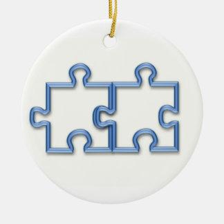 Puzzle Pieces Ornament