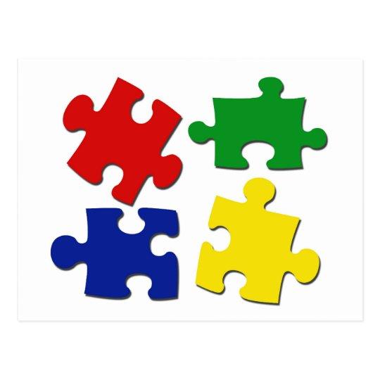 Puzzle Pieces Postcard