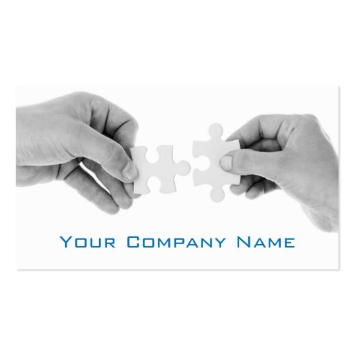 Puzzle Pieces with Hands Photo - Business Card Business Card Template