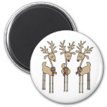 Puzzle Ribbon Reindeer Magnets