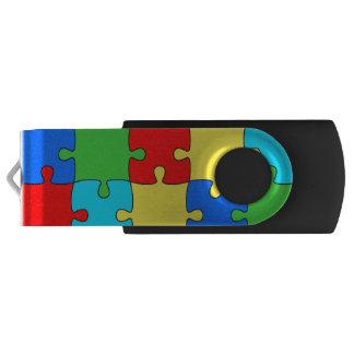 Puzzle Silver, 16 GB, Black USB Flash Drive