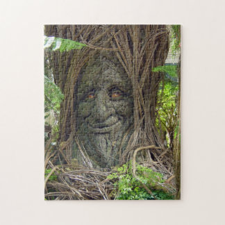 Puzzle, smiling tree jigsaw puzzle