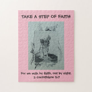 PUZZLE STEP OF FAITH CHRISTIAN SCRIPTURE VICTORIAN