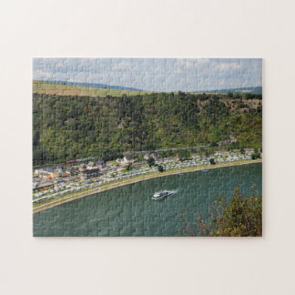 Puzzle to the Loreley in the central Rhine Valley