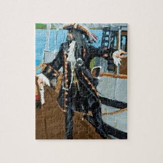 Puzzle w portrait of pirate Captain Jim Studley