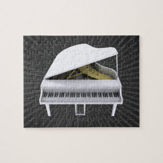 Puzzle: White Grand Piano Jigsaw Puzzles