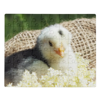 puzzle with, animals, happy living on farm