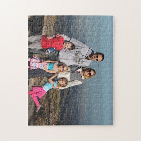 Puzzle with Chris, Sue & kids at lake