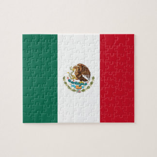Puzzle with Flag of Mexico