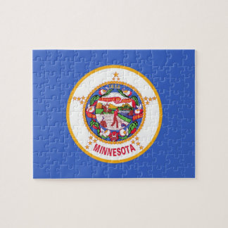Puzzle with Flag of Minnesota State