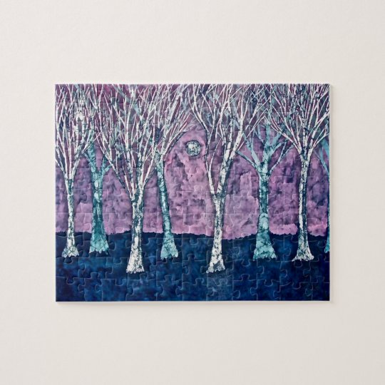 Puzzle with Trees in Winter
