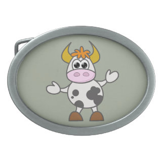 Puzzled Cow Belt Buckles