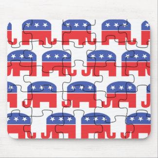 Puzzled Republican Elephants Mousepad