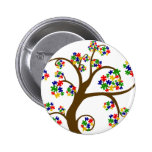 Puzzled Tree of Life 6 Cm Round Badge