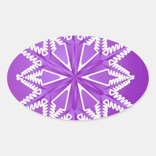 PWSF PURPLE WINTER SNOWFLAKE WINTER BACKGROUNDS WA STICKER