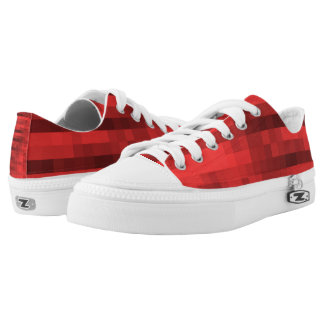 PXL Pattern Red Low Tops