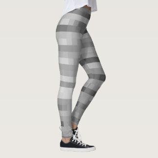 PXL Pattern Silver Leggings