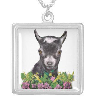 Pygmy Goat Floral Necklace
