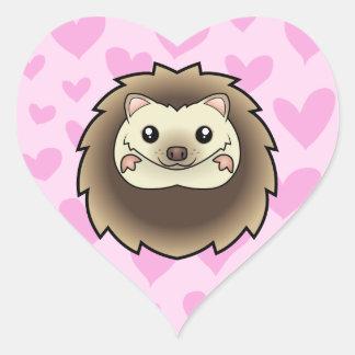 Pygmy Hedgehog Love Heart Sticker