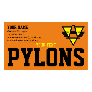 Pylons Sports Team Pack Of Standard Business Cards