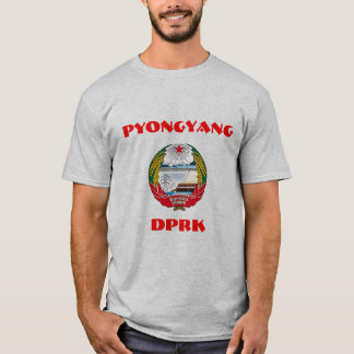 Pyongyang, North Korea, DPRK Coat of Arms. T-Shirt