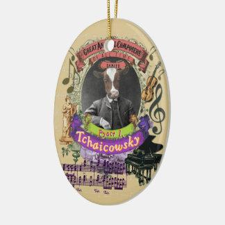 Pyotr Tchaicowsky Cow Animal Composer Tchaikovsky Ceramic Ornament