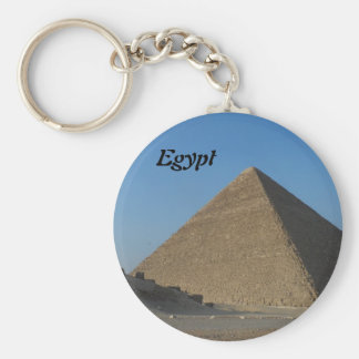 Pyramid at Giza, Egypt Key Ring