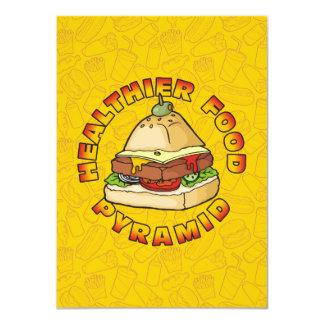 Pyramid Burger 11 Cm X 16 Cm Invitation Card