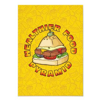 Pyramid Burger 13 Cm X 18 Cm Invitation Card