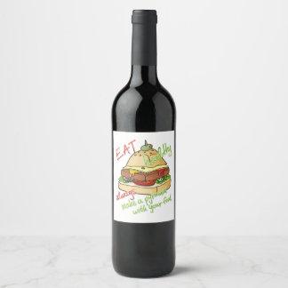Pyramid Burger Wine Label