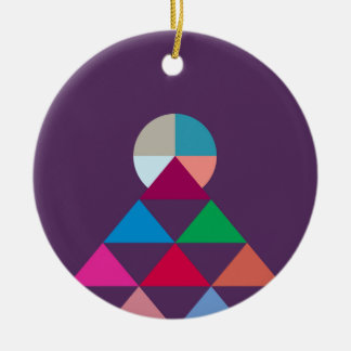 Pyramid Ceramic Ornament