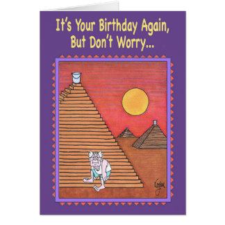 PYRAMID CLIMBER Birthday Card